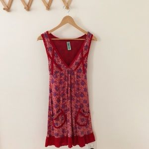 Free People | V Neck Floral Lace Pocket Dress